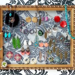 DIY: Vlastnoručně vyrobená nástěnka našperky