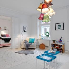 Světlý a útulný byt s osvěžujícími barevnýmiakcenty