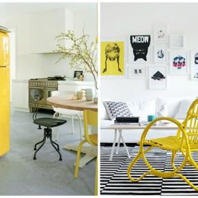 Žlutá vnese do bytuslunce
