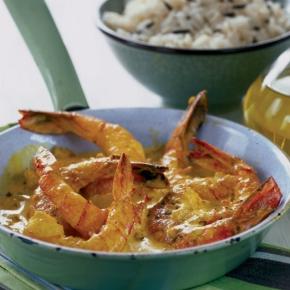 Krevety ve smetanové sherryomáčce