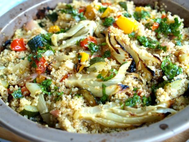 Quinoa s pečenou zeleninou