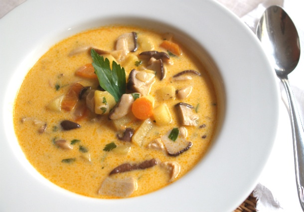 Gobova juha - hříbková polévka